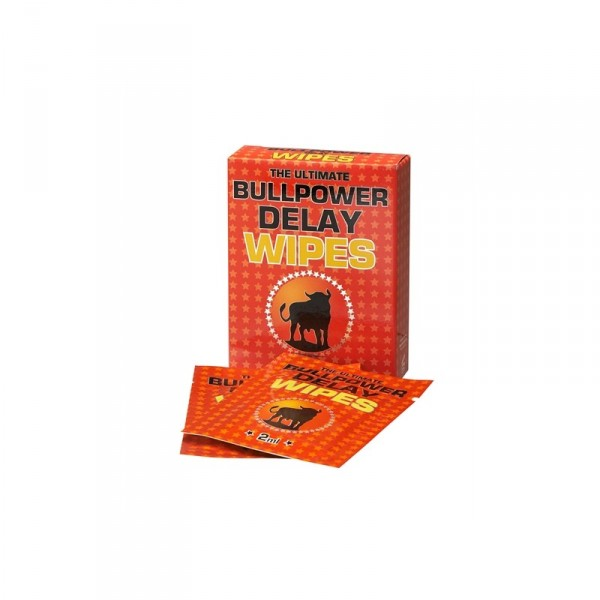 Bull Power Wipes Delay Sachets (6x2ml)