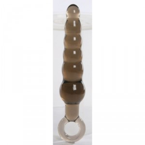 "Unisex 6"" Anal Stick with Teared Anal Bead ~ Black"