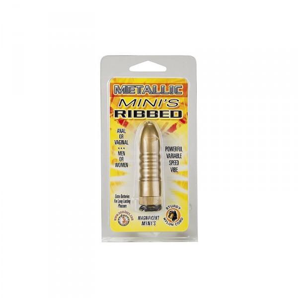 Metallic Mini'S Ribbed - Gold