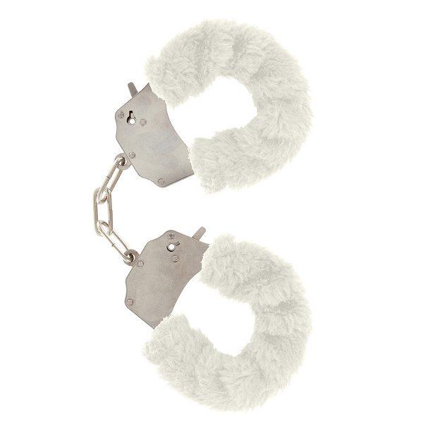 kajdanki z futerkiem białe